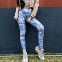 2020 Sexy Kawaii Cupido Stampa vita alta Leggings Femme Angelo modello Push Up Sport Leggins Mujer Fittness Leginsy damskie