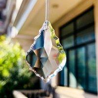 35 50 63 75mm Foglia d'acero Suncatcher Prismi di cristallo Chiaro Crystal Pendenti per lampadario Illuminazione Appeso Ornamento Home Decor H Bbynyr