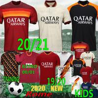 Tailandês 20/21 Como Maillot Perotti Dzeko Futebol Jersey de Rossi Zaniolo Home Totti Pastore Football Jersey Men + Kids Football Shirt
