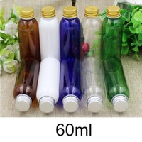 60ml Esvaziar Plastic Water Drop Garrafa Cosmetic face Toners Shampoo Shower Gel viagem Container Branco Brown frete grátis
