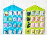 16 tasche multifunzione Spesso Cancella calzini Bra estetica intima Ordinamento bagagli Porta Wall Hanging Closet Organizer bag