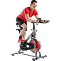 US Stocker Inomhus Cykling Cykel 4-vägs Justerbart styrstol LCD-skärm Hem Kardio Workout Belt Drive Stationär träning Bike MS194754AAJ