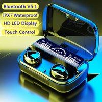 LED 디스플레이와 M10 무선 헤드폰, 블루투스, 마이크와 배터리 충전기와 스포츠 스테레오 방수 TWS 헤드폰