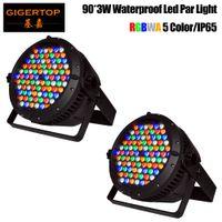 Gigertop 2 وحدة 90x3w تصميم جديد كبير للماء أدى ضوء الاسمية RGBWA 5 اللون السلس أدى الجدار غسالة مدينة اللون بناء الإضاءة الملونة