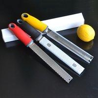 Kitchen Baking Tools Stainless Steel Citrus Lemon Zester Cheese Grater Parmesan Fruit Vegetables Razor Sharp Blade Protective Cover