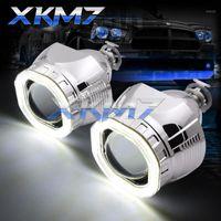 Otro sistema de iluminación cuadrado LED COB Halo Angel Eyes Hid Bixenon Proyector Lens H1 H4 H7 Xenon Faro Light Light 2.5 '' Car M