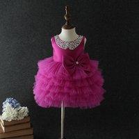 Geburtstag Baby Mädchen Kleider Tutu Lila Layered Hochzeit Prinzessin Vestidos 2020 Baby Kleidung von 1 2 3 4 5 Jahre alt 184028 LJ201222