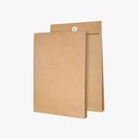 En blanco El archivo de papel Kraft Bolsa Documento de información Titular del archivo fuente de oficina de la bolsa de almacenamiento de sobres Organizador de envío libre del regalo