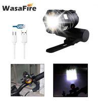Велосипедные огни 15 шт. / Установлен Super Bright T6 LED Велосипедные велосипедные Осветимые фары USB BehaRegable MTB Передний велосипедный факел Famce1