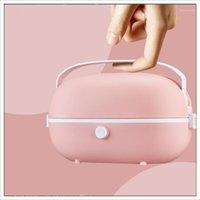 220V plugue mini fogão de arroz térmico aquecimento elétrico lancheiro portátil steamer cozinhar recipiente refeição almoço11