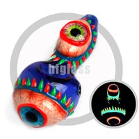 Lueur dans les tuyaux de verre 3D noir verre tabagisme bangs tuyaux de la main cuillère verre tabac tuyau en gros livraison gratuite