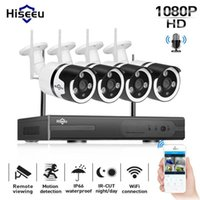 Hiseeu 1080P نظام كاميرا CCTV اللاسلكية 4ch 2MP الصوت IP كاميرا للماء شبكة الأمن نظام مراقبة الفيديو كيت wifi 1