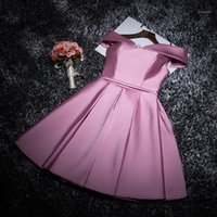 Vestidos casuais lanxirui borgonha rosa elegante joelho comprimento sólido festa fora do ombro mulheres vestido formal vestidos1