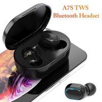 TWS A7S D7S Bluetooth drahtlose Kopfhörer-Kopfhörer-Knopf-Kontroll-Ohrhörer wasserdichtes Stereo-Sport-Headset für iPhone Android Smartphone