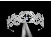 2021 Nowy Vintage Barok Bridal Tiaras Akcesoria Prom Headwear Oszałamiająca Sheer Crystals Wedding Tiaras i korony 1907