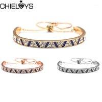 Ссылка, цепь Chieloys роскоши 3 цвета из нержавеющей стали браслеты браслеты женские сердца навсегда любви браслет очарование женщины знаменитые драгоценности1