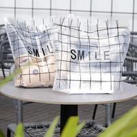Envoltura de regalo 50 unids bolsas de plástico sonrisa Compras Embalaje para hornear pastel de pan Bolsa de caramelo Navidad Baby Baby Wasting Bolsos1