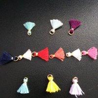 100 stück Multicolor Baumwolle Mini Quaste Pend Fransen DIY Schmuckherstellung Ohrring Halsketten Kleidungsstück Quasten Spitze Zubehör Material H Jllxhp
