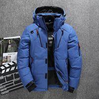 2020 neue Qualitäts-starke warmen Wintermantel Männer mit Kapuze beiläufigen im Freien Man Down Jacket Parka Mode Windjacke Herren Mantel