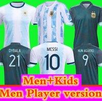 2020 Argentina Fussball Jersey 20 21 Spielerversion Copa Home Away Football Shirt Messi Dybala Aguero LO Celso Martinez TagliFico Männer + Kinder
