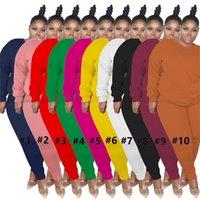 النساء مصمم التراككم 2021 الربيع زائد الحجم 3xl المرأة رقيقة سترة اثنان قطعة بدلة سترة أعلى السراويل بلون الرياضة مجموعة بيع G11804