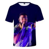 Hip Hop Rapper Drake Stampa 3D T-shirt per bambini per ragazzi / Ragazze Teens Casual Tees Streetwear Hiphop divertente Tshirt Bambini vestiti