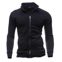 남성용 후드 스웨터 남성 코트 패션 캐주얼 가을 겨울 레저 스포츠 카디건 지퍼 후드 탑 재킷