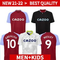 Hommes + kits enfants 20 21 Aston Villa Soccer Jersey Wesley Grealish Kodja 2020 2021 el Ghazi Chester McGinn Jugador Chemises de football