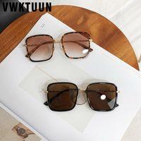 Vwktuun Square Солнцезащитные очки Женщины 2020 Сплавные рамки Негабаритные Женские Солнцезащитные очки Роскошные Большие Очки UV400 Люнит-де-SOLEIL FEM1