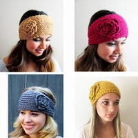 Women Headband Crochet Headband Knit Hair Band Winter Warm H...