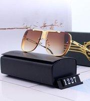 مصمم البقائق النظارات الشمسية للرجال الزجاج مرآة جريل lense خمر نظارات الشمس نظارات اكسسوارات المرأة مع مربع 1227 #