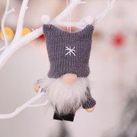 Рождественские украшения Рождественские украшения Кулон Шерстяные вязаные ткань безликая кукла Рождественская елка украшения 10 стилей YYB3578
