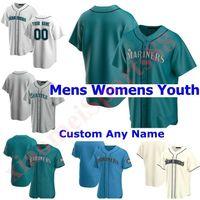 2021 Seattle homens mulheres crianças juventude beisebol jerseys marinheiros ken griffey jr. felix hernandez edgar martinez martinez mitch haniger kyle seager jersey