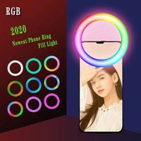 New LED Ring Selfie Light Live Beauty Selfie Fill Light USB Rechargeable Supplementary Lighting Camera Photography