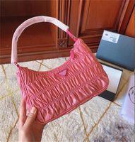 Kadın Omuz Çantası Pileli Çanta Moda Stil Bayan Çanta Hobos Baget Çanta Birden Çok Katı Renk CFY2004027