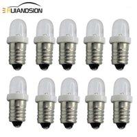 Lumières de secours 10x E10 LED Ampoule 0,1W DC 3V 6V 12V Indicateur Blanc Voiture Vacelle Voyant Auto Auto Instrument Auto Torch Moto Ampoules Lampe1