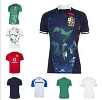 20 21 Alta qualità Inghilterra e Ireland Lions Shirt Rugby League International League Home Team National Lions Camicia da uomo Oliva