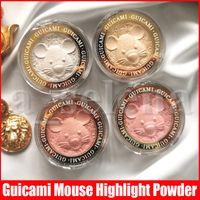 Guicami Maquillage Face 3D Might Might Bronzeurs de souris Rose Gold Bronzers haute lumière soulignant la poudre pressée 4 couleurs