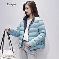 FitAylor Winter Winter Sold Ultra Light Jacket Mujeres Cálido Espesor Single Breasted Femenino Pato blanco Down Ropa de salida