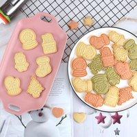 3d البسكويت الكوكيز الحلويات العفن عيد الميلاد موضوع البلاستيك الصحافة نوع الخبز قوالب diy العفن اكسسوارات المطبخ الساخن بيع 7 8RL F2