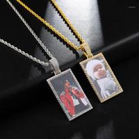 Fora feita sob encomenda feita sob encomenda medalhão colar pingente 4mm tênis cadeia zircon hip hopimagem jóias homens1