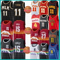Atlanta Hawks Denver Nuggets 2021 NEW Nikola Trae 15 11 Young Jokic Basketball Jersey Jamal 27 Murray Spud 4 Webb retro mesh black Jerseys Red