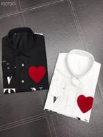 Рубашка с вловетнской печати платье рубашка мужские дизайнерские рубашки белый черный тонкий с длинным рукавом мужчин рабочая рубашка повседневная импортная бренд париж