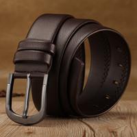 PD004 Schärpen Mode Männer Nadel Schnalle PU Leder Lässige Männer braune schwarze Gürtel mit guter Qualität
