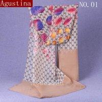 flores de gasa pañuelo en la cabeza de la moda bufandas de las señoras Hijab estolas mujer ponchos primavera diseñador damas chales y envoltura