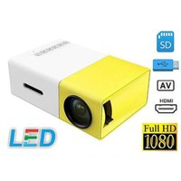 YG300 مصغرة جهاز العرض LED جهاز العرض 400-600lm 1080P فيديو 320 × 240 الصوت HDMI USB مصغرة YG-300 Proyector المسرح المنزلي مشغل الوسائط