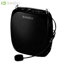 Shidu Portable Voice Amplificador com fio Microfone Mini Alto-falante Audio Natural Soundpeaker Som Estéreo Para Professores Discurso LJ201027