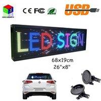 """디스플레이 12V 자동차 와이파이 LED 보드 여러 가지 빛깔의 26 """"""""프로그래밍 가능한 스크롤 메시지 실내 P5 풀 컬러 SIGN1"""