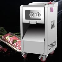 Kommerzielle Fleischschneidermaschine 220kg / h Doppelschnitt Fleisch Slicer Maschine Cut Shredded Died1