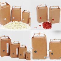 Sac en papier de riz Emballage en carton Carton Paper Sac Mariages Kraft Paper Sacs Stockage Restaurant Sacs d'emballage debout 249 J2